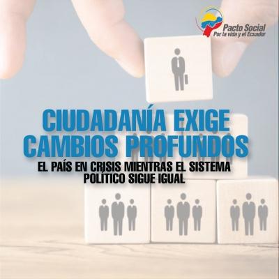 Ciudadanía exige cambios profundos: El País en crisis mientras el sistema político sigue igual