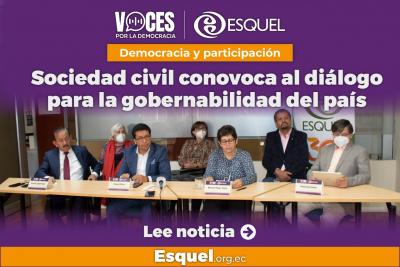 Sociedad civil convoca al diálogo para la gobernabilidad del país