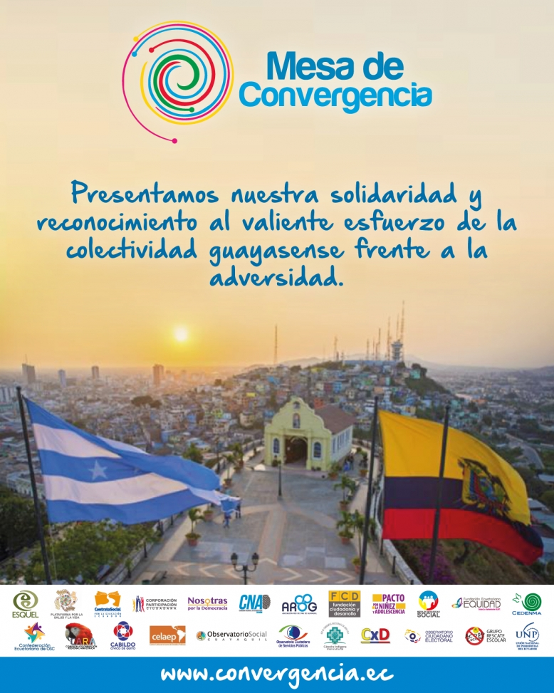 Presentamos nuestra solidaridad y reconocemos el valiente esfuerzo de la colectividad guayasense frente a la adversidad.