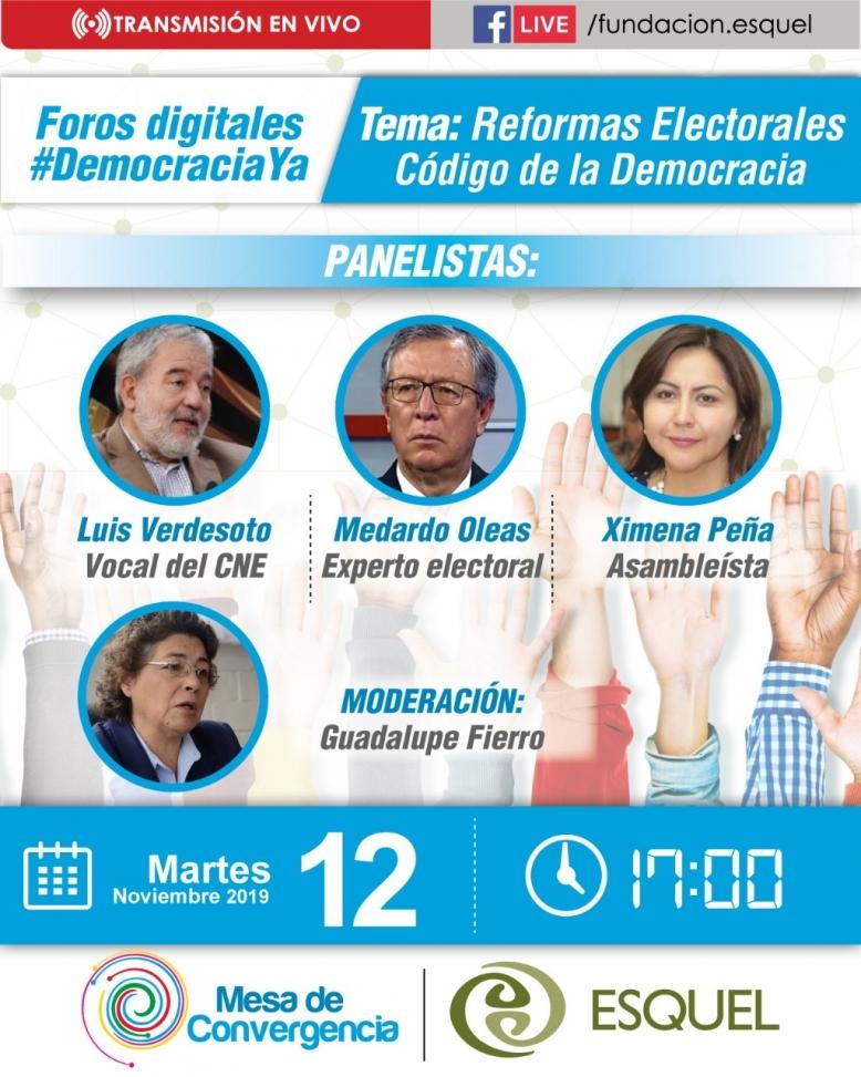 Segundo Foro Digital para abordar las reformas electorales