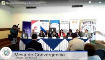 Rueda de prensa: presentación Mesa de Convergencia y la entrega pública de sus propuestas estratégicas