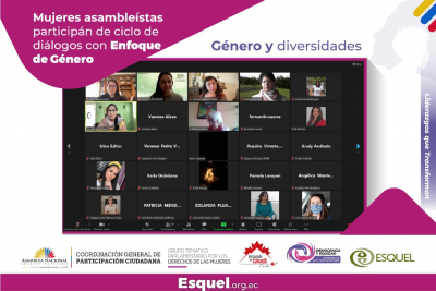 Mujeres Asambleístas participan de ciclo de diálogos con enfoque de género