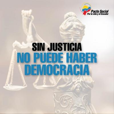 Sin justicia no puede haber democracia