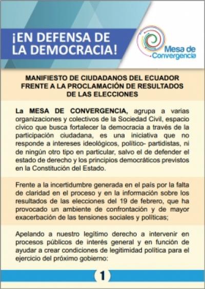¡EN DEFENSA DE LA DEMOCRACIA!