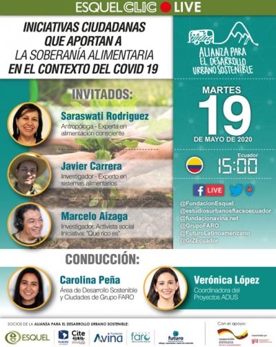 Iniciativas ciudadanas que aportan a la soberanía alimentaria en el contexto del COVID-19