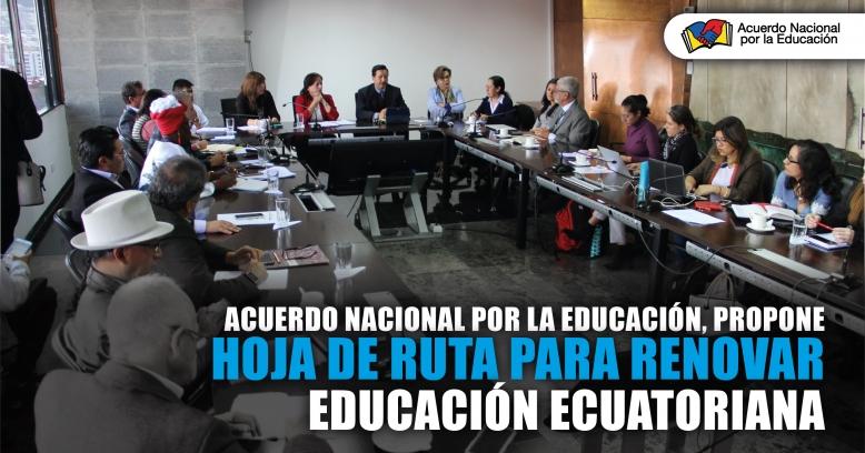 Acuerdo Nacional por la Educación, propone hoja de ruta para renovar Educación Ecuatoriana