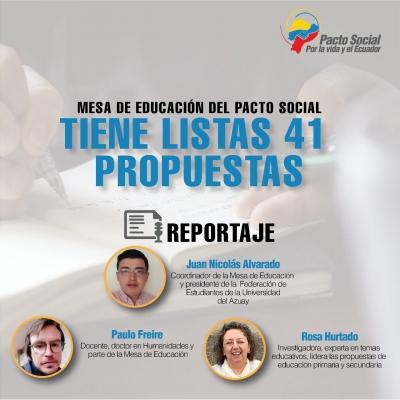 Mesa de Educación del Pacto Social tiene listas 41 propuestas